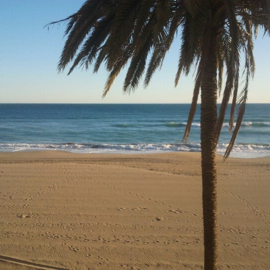 Photo taken at Platja de Calafell by Cho C. on 2/12/2013