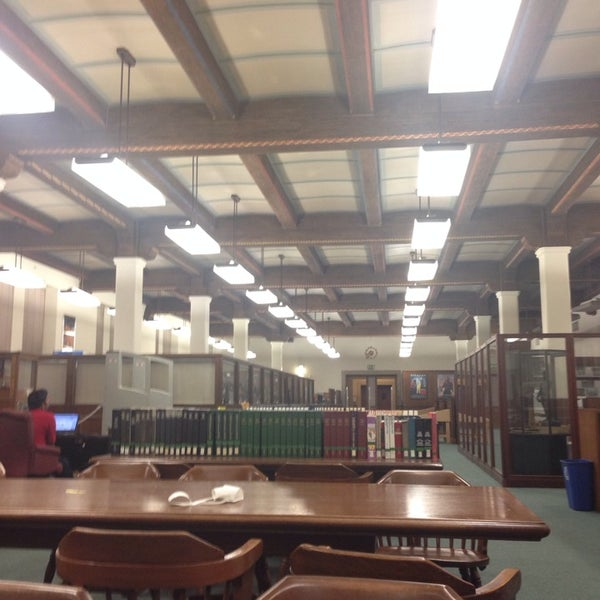Photo taken at Doheny Memorial Library (DML) by Marco G. on 3/25/2014