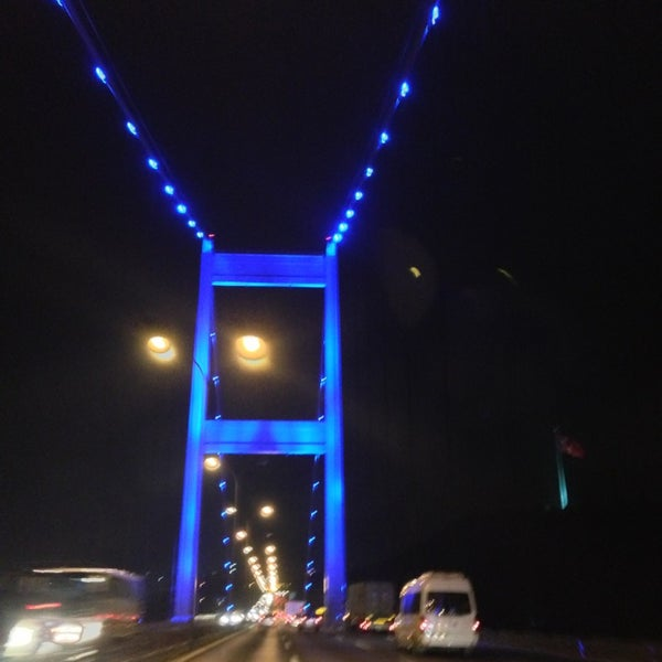 Photo taken at Fatih Sultan Mehmet Bridge by Süleyman M. on 7/11/2013