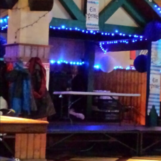 Photo taken at Zeppelin Hall Biergarten by Daniel C. on 1/18/2014