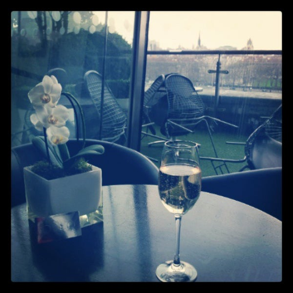 Photo taken at OXO Tower Brasserie by Andy H. on 3/27/2013