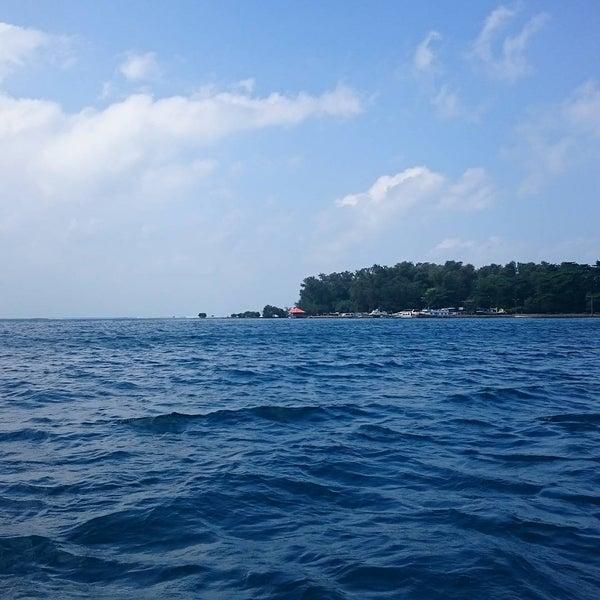 Photo taken at Pulau Pramuka by Aylwin H. on 7/19/2015