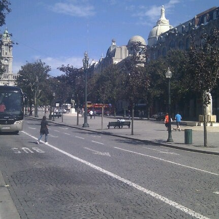 Photo taken at Avenida dos Aliados by Filipe V. on 9/27/2012