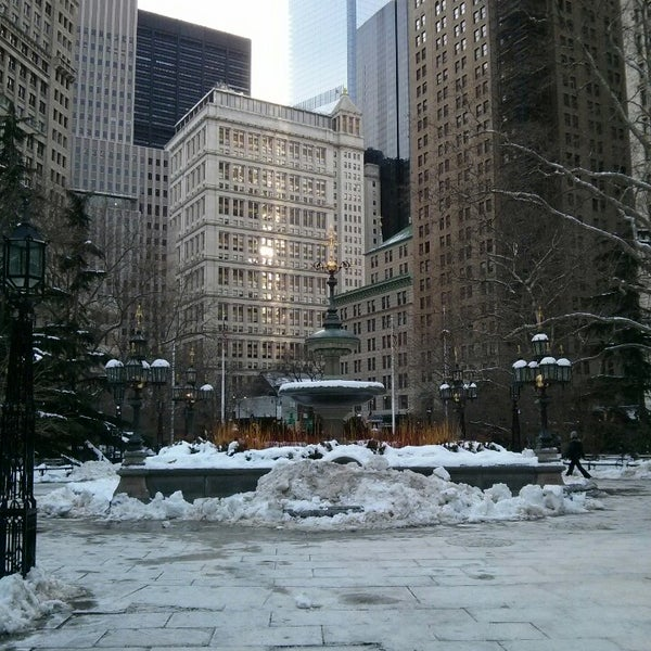 Photo taken at City Hall Park by Dmitry L. on 2/8/2014