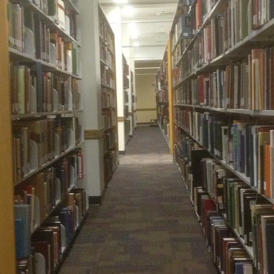 Photo taken at Carrier Library by Rebecca M. on 10/3/2012