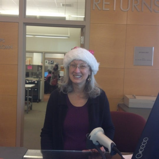 Photo taken at Greenwich Library by Sandy J. on 12/13/2012