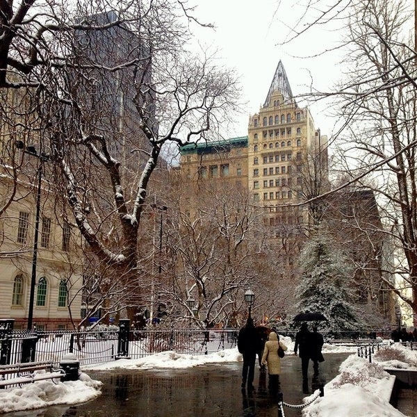 Photo taken at City Hall Park by Marcello R. on 2/18/2014
