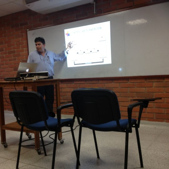 Photo taken at Universidad Pontificia Bolivariana - Seccional Bucaramanga by Andrés M. on 10/18/2012