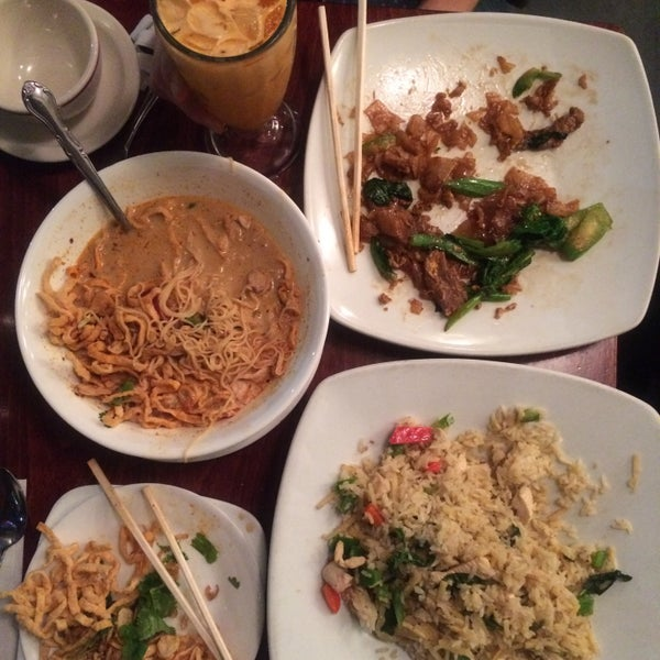 Photo taken at Pam Real Thai by Amber on 12/8/2015