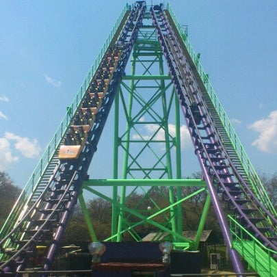 Photo taken at Six Flags by Valeeriaa R. on 3/18/2013