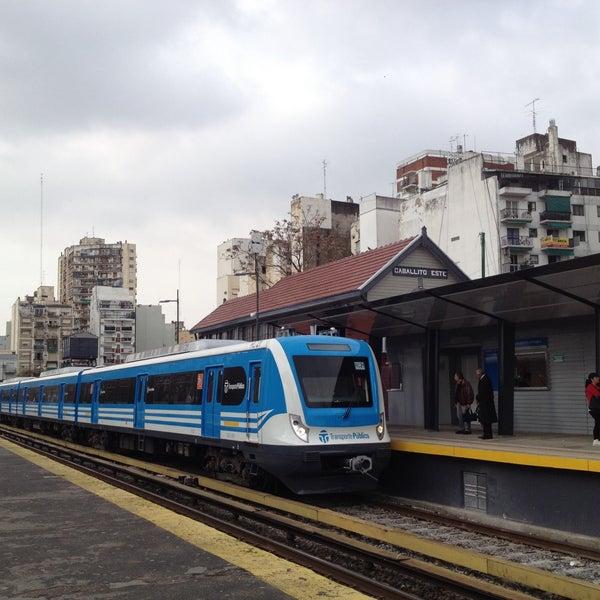 Photo taken at Estación Caballito [Línea Sarmiento] by MiKe R. on 7/23/2015