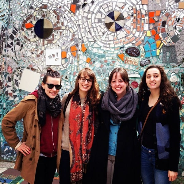 Photo taken at Philadelphia's Magic Gardens by Faith Z. on 4/18/2014