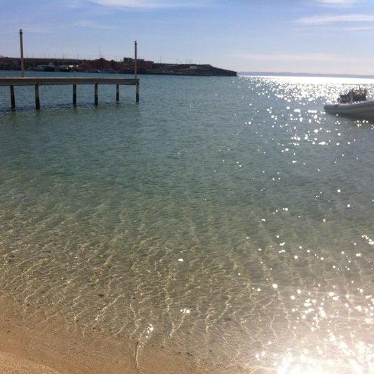 Photo taken at Playa Pichilingue by Leo daniel J. on 3/13/2012