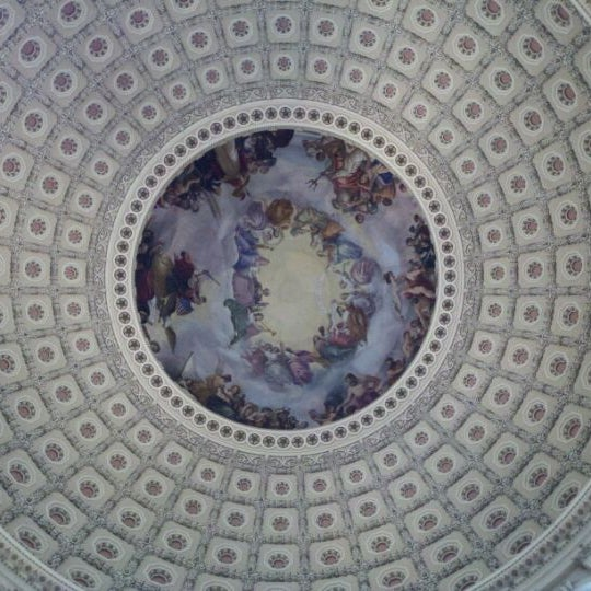 Photo taken at Rotunda of the U.S. Capitol by Ben S. on 11/3/2011