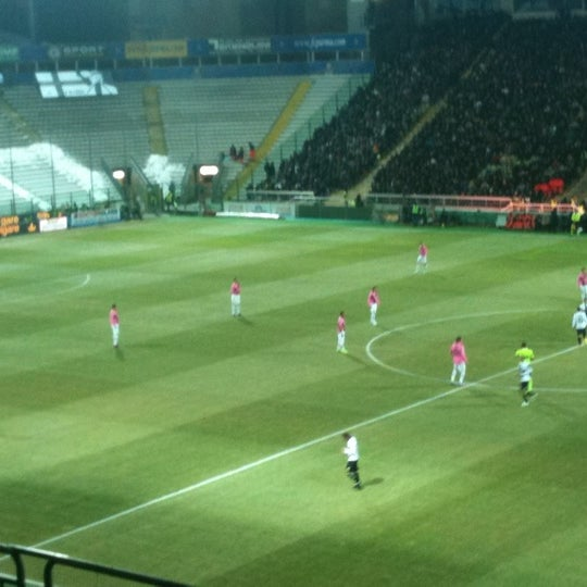 Photo taken at Stadio Ennio Tardini by Ciccio D. on 2/15/2012