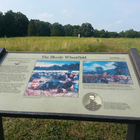 Photo taken at Wheatfield, Gettysburg Battlefield by Debra V. on 7/16/2012