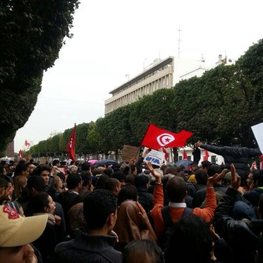 Photo taken at Avenue Habib Bourguiba I شارع الحبيب بورقيبة by Arfawi S. on 2/23/2013
