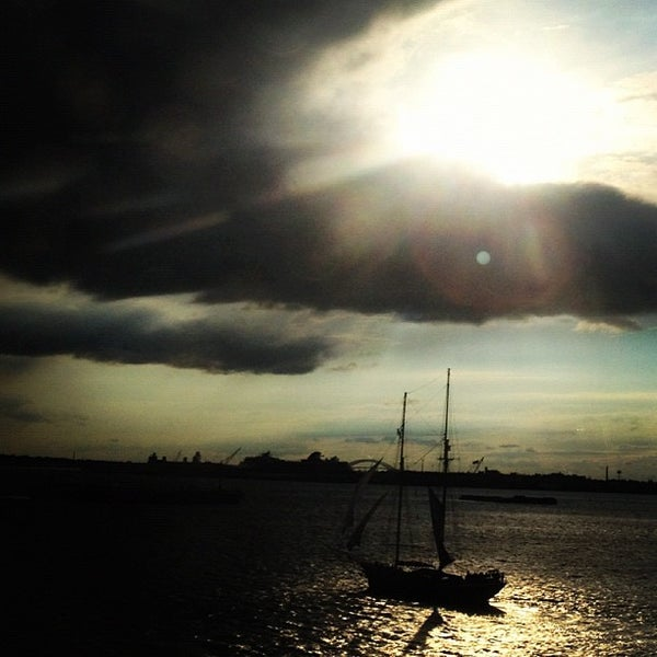 Photo taken at New York Harbor by Josh D. on 10/6/2012