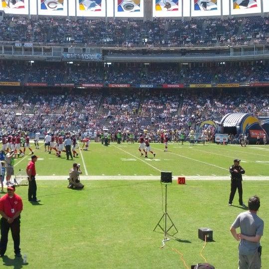 Photo taken at Qualcomm Stadium by Dennis W. on 9/23/2012