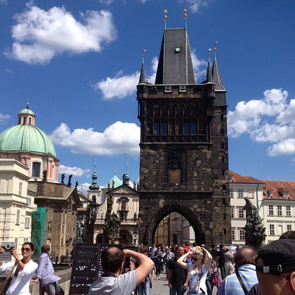 Photo taken at Charles Bridge by Andrey M. on 6/11/2013