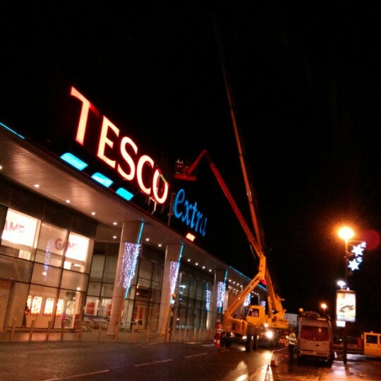 Photo taken at Tesco by Rich B. on 1/2/2013