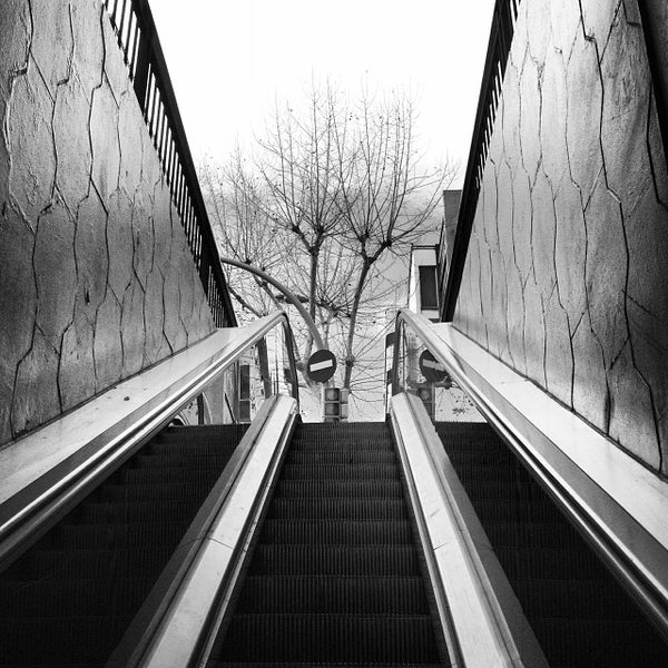 Photo taken at METRO Plaça de Sants by André B. on 1/24/2014