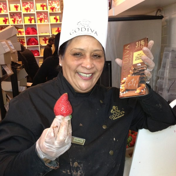 Photo taken at Godiva Chocolatier by Sean L. on 2/14/2013