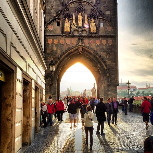 Photo taken at Karlův most | Charles Bridge by Oleg B. on 5/23/2013