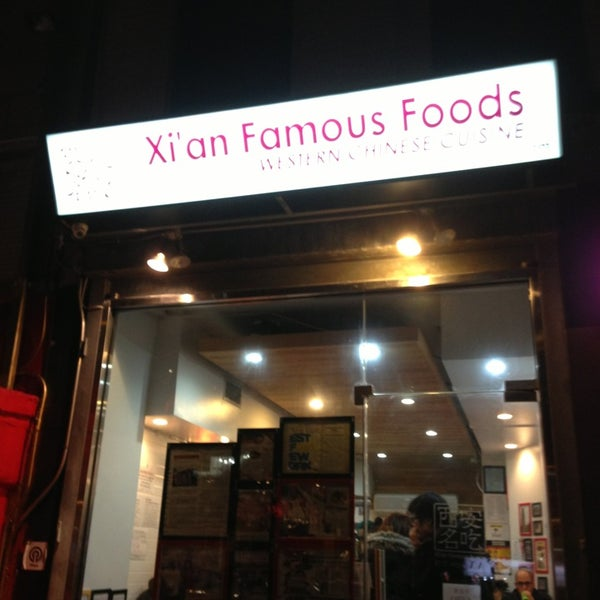 Photo taken at Xi'an Famous Foods by Ariel G. on 12/29/2012