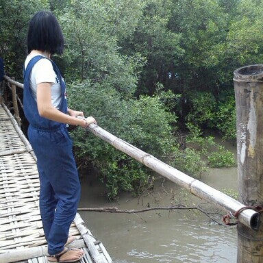 Photo taken at Ekowisata Mangrove by Maria B. on 1/26/2014