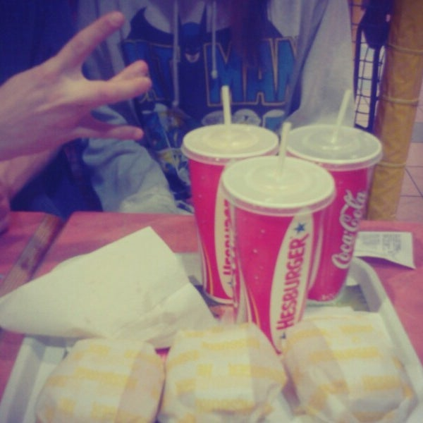 Photo taken at Hesburger - Rīga by Kristīne G. on 4/21/2013