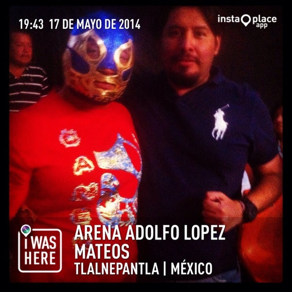 Photo taken at Arena Adolfo Lopez Mateos by Crixus W. on 5/18/2014