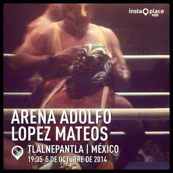 Photo taken at Arena Adolfo Lopez Mateos by Crixus W. on 10/6/2014