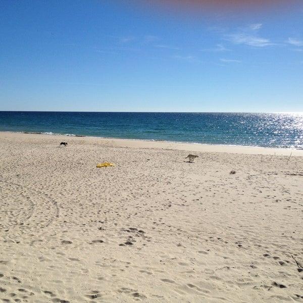 Photo taken at Praia do Barril by Lynda L. on 2/9/2013