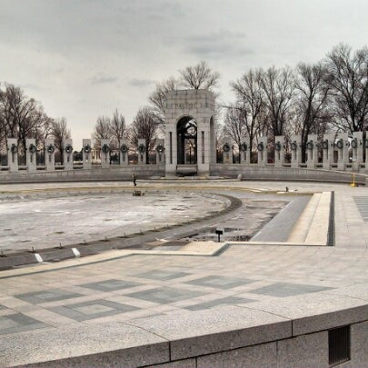 Photo taken at World War II Memorial by Leona D. on 1/17/2013
