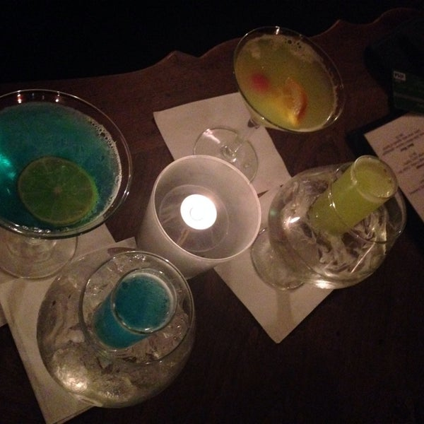 Try the peach flavored martini & the blueberry