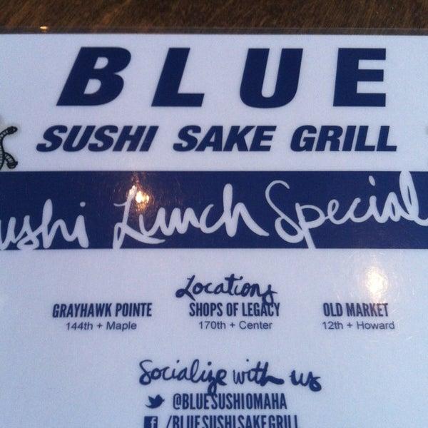 Photo taken at Blue Sushi Sake Grill by Kaitlin C. on 1/3/2013