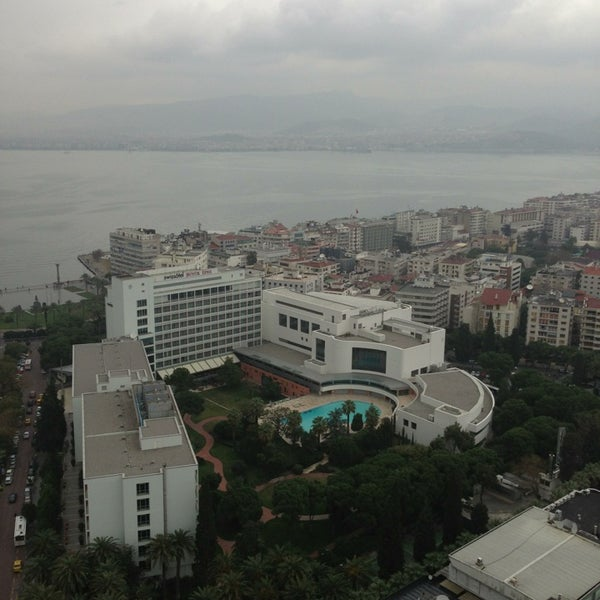 Photo taken at Hilton İzmir by Tayfun B. on 2/23/2013