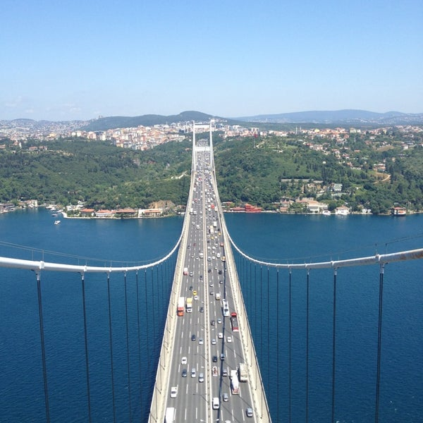 Photo taken at Fatih Sultan Mehmet Bridge by Volna on 6/26/2013