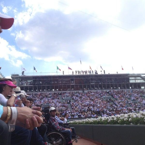 Photo taken at Stade Roland Garros by Mr.Blum on 6/5/2013