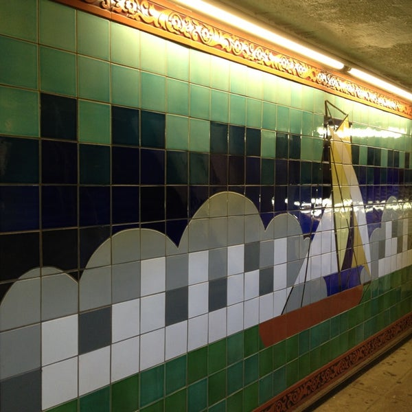 Photo taken at MTA Subway - South Ferry (1) by Andrea M. on 8/5/2013