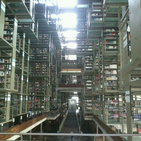 Photo taken at Biblioteca Vasconcelos by Abraham H. on 5/15/2013