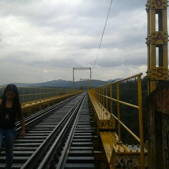 Photo taken at Monumento Nacional Puente Malleco by Ibexita M. on 2/9/2013