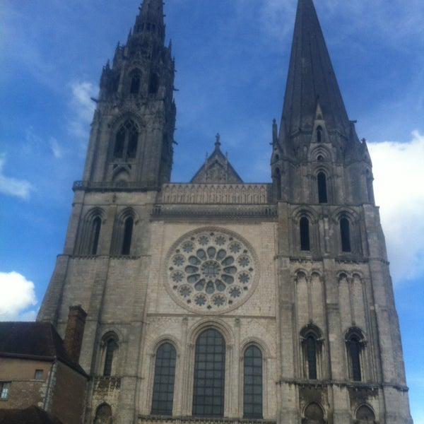 Photo taken at Cathédrale Notre-Dame de Chartres by Pierre C. on 3/9/2013