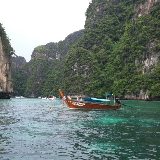 Photo taken at Phi Phi Island by Andrés Felipe G. on 7/7/2013