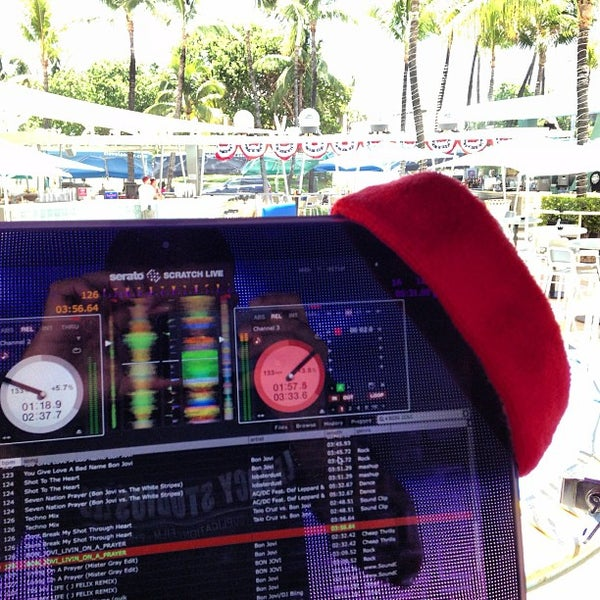 Photo taken at Clevelander South Beach Hotel and Bar by DJ LEGACY / @TheRealDJLEGACY on 7/4/2013