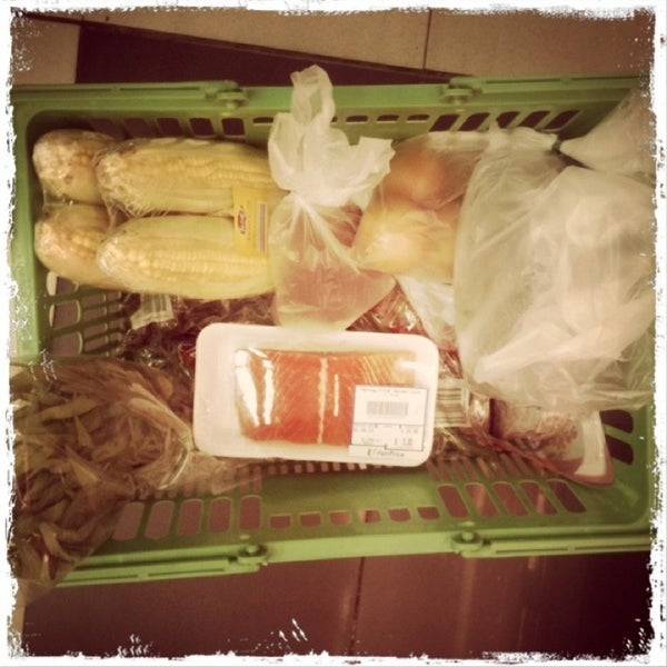 Photo taken at NTUC FairPrice by Maui F. on 6/1/2013
