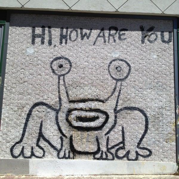 Hi how are you mural public art in austin for Daniel johnston austin mural