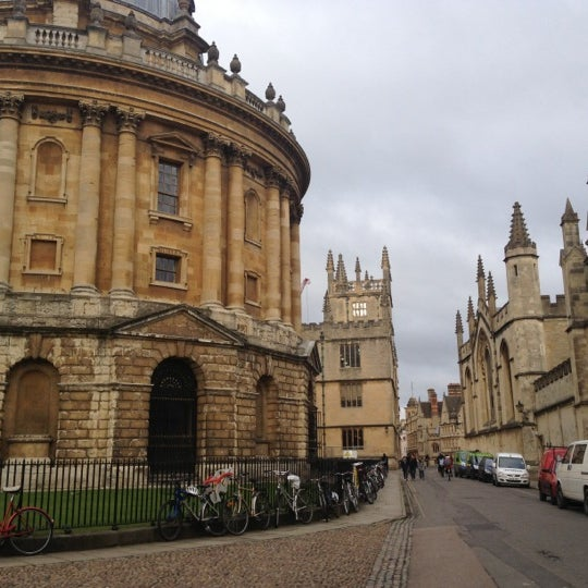 Photo taken at Radcliffe Camera by Sally K. on 11/28/2012