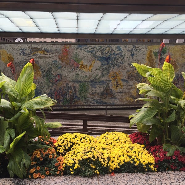 """Photo taken at Chagall Mosaic, """"The Four Seasons"""" by Alex P. on 10/28/2015"""